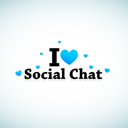 I Love Social Media Chat Concept Stock Vector - 11849405
