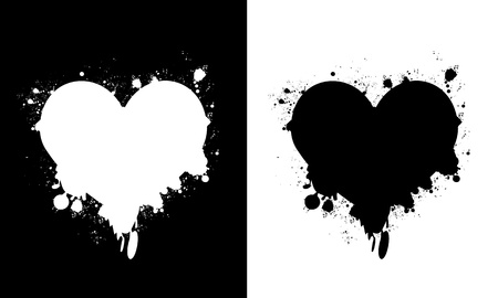 Heart splashes Vector
