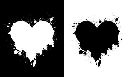 Heart splashes Vector