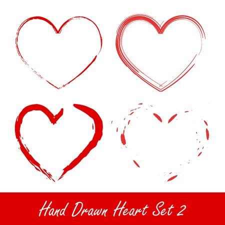 Hand drawn heart set 2 Vector