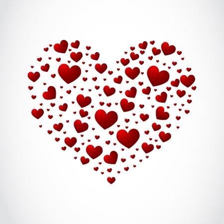 multitude: Coraz�n de los corazones peque�os Vectores