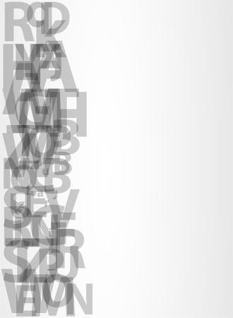 preschool poster: letters vector background Illustration