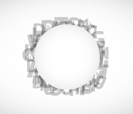 abstract letters: Abstract letters background