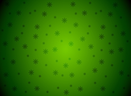 wintriness: Snowflakes green Vector background