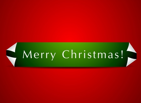 Christmas page curl banner Vector