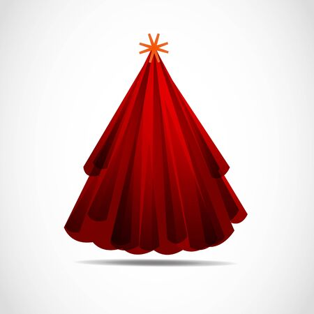Abstract Modern Red Christmas Tree Stock Vector - 11965861