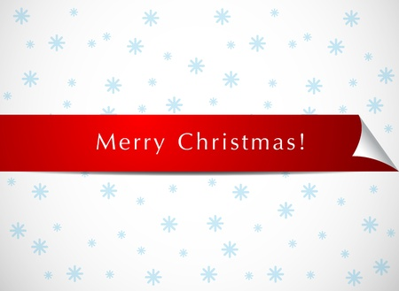 Christmas red page curl Vector