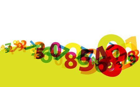 Abstract numbers business background Stock Vector - 11965544