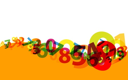 numbers vector background Vector