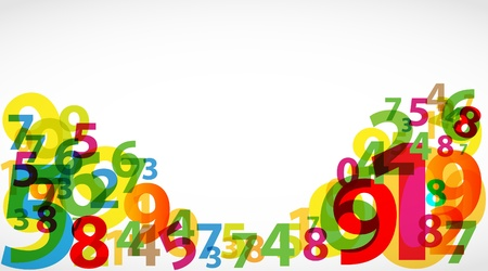 numbers abstract: Abstract Colorful numbers