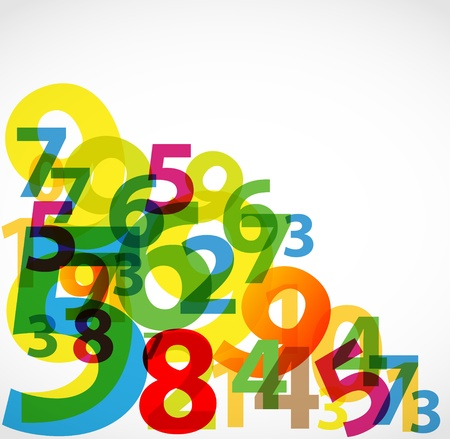 numbers abstract: Colorful numbers background