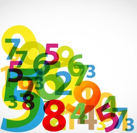 numbers abstract: N�mero de colores de fondo