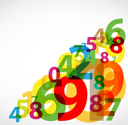 Numbers abstract poster Vector