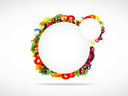7 9: Colorful abstract numbers background