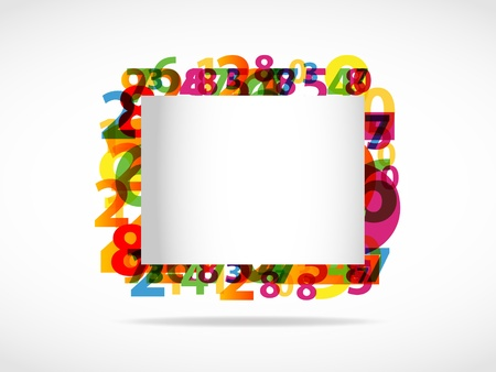 0 6: Abstract numbers background