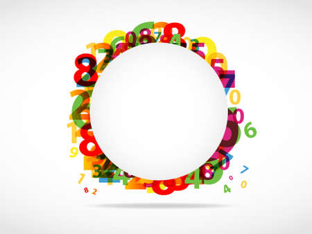 Modern Abstract numbers background Stock Vector - 11965712