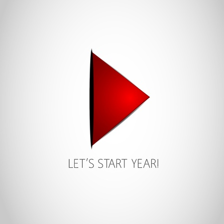 Lets Start Year Play Button Vector
