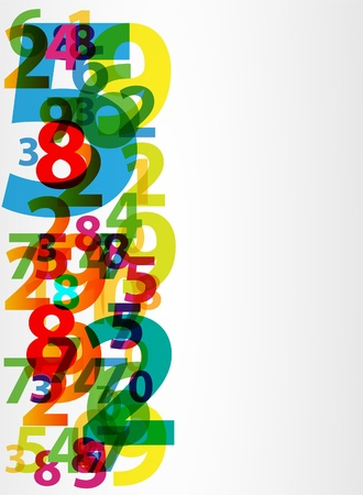 number code: Abstract letters numbers
