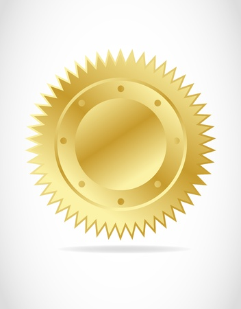 illustration of gold seal Vector