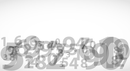 Abstract numbers on isolated background_2 Vector