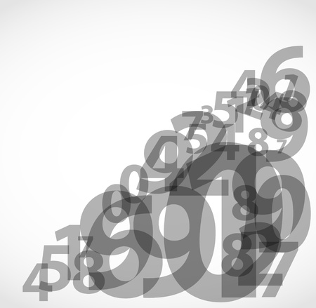 simbolos matematicos: Números abstractos de fondo