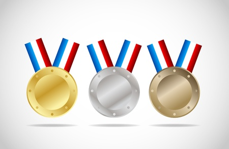 Medal set Stock Vector - 11965701