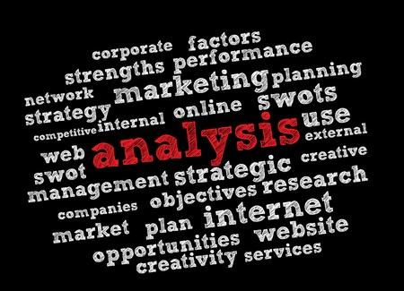 Analyse Wortwolke Vektor-Hintergrund