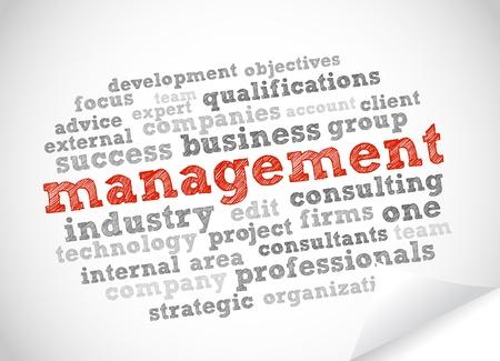 relationship management: Management Illustration