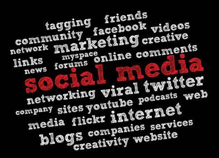 social media words Stock Vector - 11965875