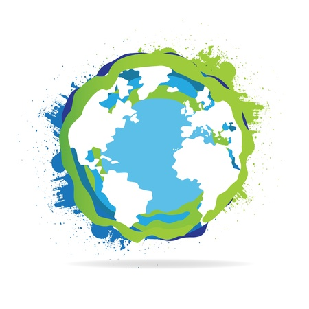 glob: Abstract Grunge World Globe