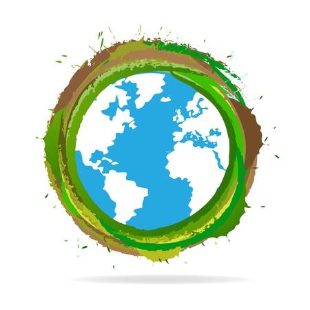 conciencia moral: Grunge World Globe