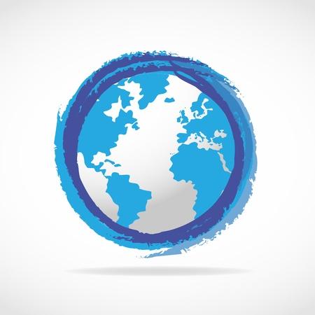 conciencia moral: Blue World Globe icono