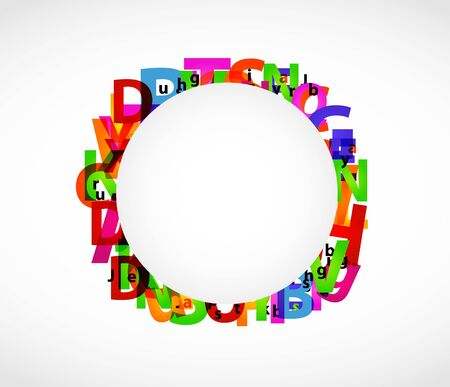 Abstract letters Vector