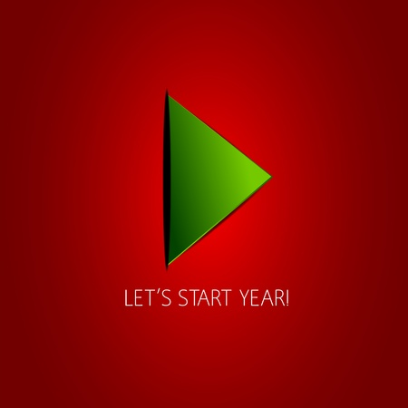 New Year Play Button Vector