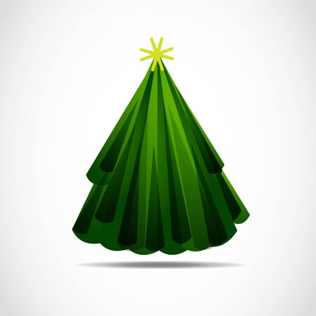 Vector abstract christmas tree Stock Vector - 11965902