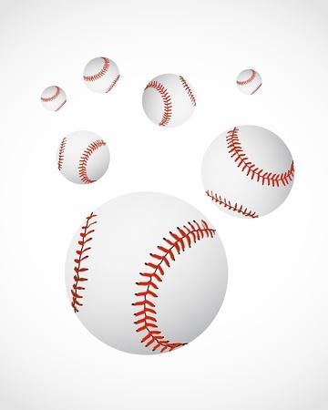 inning: baseball balls Illustration
