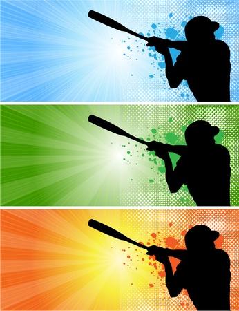 baseball banners_1 Stock Vector - 12221807