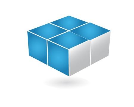 Logotipo de la empresa de diseño en 3D
