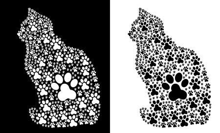 Traces Paw Cat Vector