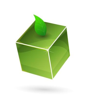 logo de comida: Cubo verde