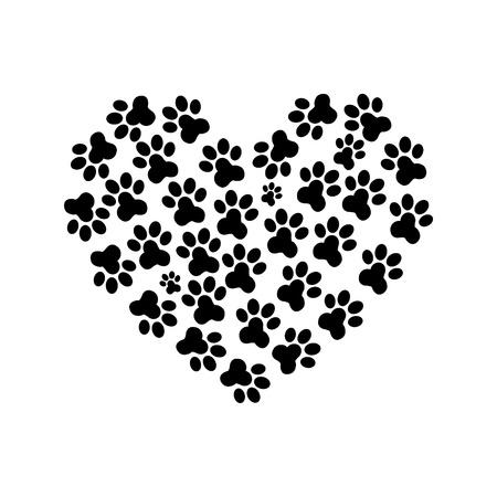 patas de perros: Corazón de la pata de la print_2
