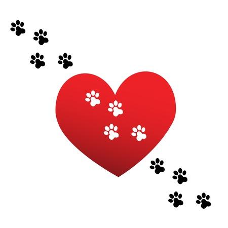 patas de perros: La pata de amor de impresión