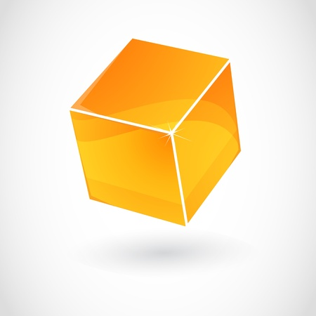 abstract cube Vector