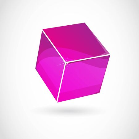Business cube design Vector
