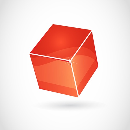 red cube: 3d red cube