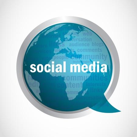 social media marketing: Los medios sociales nube de expresi�n