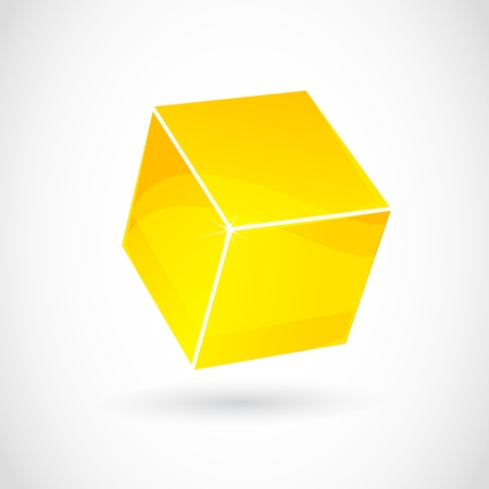 logo du cube abstrait