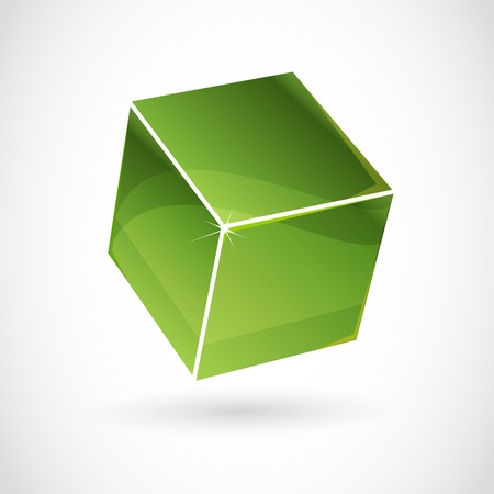 assemblage: Cube vector with 3d effect