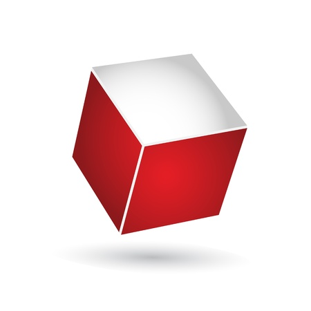 white cube: red cube