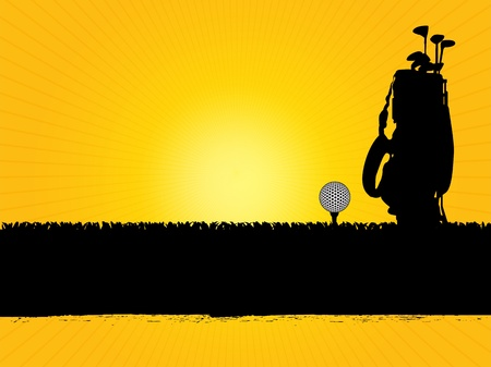 golf equipment: golf background